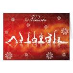 Weihnachtsyoga Grußkarten