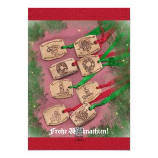 Weihnachtszauber nostalgische Weihnachts 12,7 X 17,8 Cm Einladungskarte