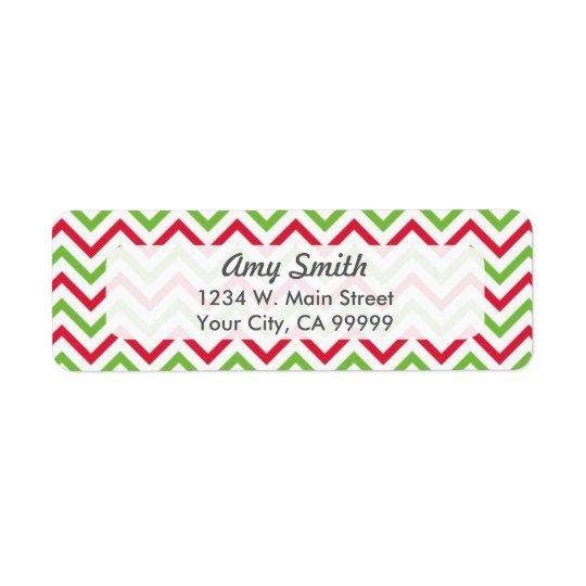 WeihnachtsZickzack Muster rot und grün
