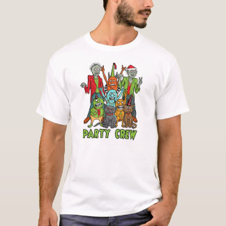 Weihnachtszombie-Monster-Party-Crew T-Shirt