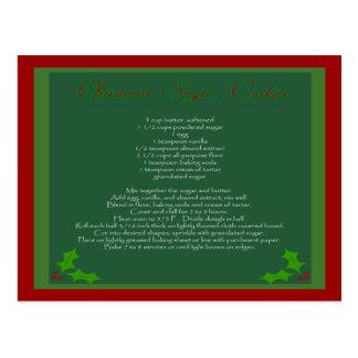 Weihnachtszuckerplätzchen-Rezept-Postkarte Postkarte