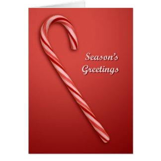 Weihnachtszuckerstange, die Grüße der Jahreszeit Karte