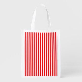 Weihnachtszuckerstange im Weihnachtsrot Wiederverwendbare Einkaufstasche