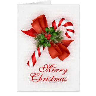 Weihnachtszuckerstange Karte