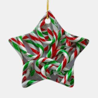 Weihnachtszuckerstangemuster Keramik Ornament