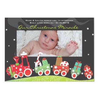 Weihnachtszug-Baby-Mitteilung GreetiIng Karte 12,7 X 17,8 Cm Einladungskarte