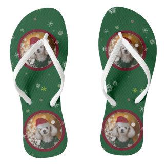WeihnachtsZwergpudel Flip Flops