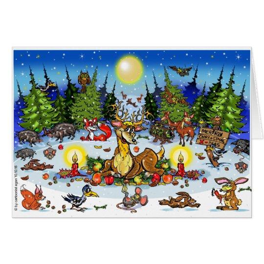 Weihnachtwimmelbild Karte