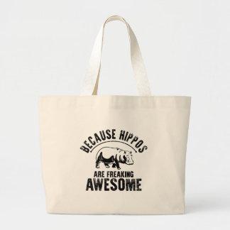 Weil Flusspferde das Ausflippen fantastisch sind Jumbo Stoffbeutel
