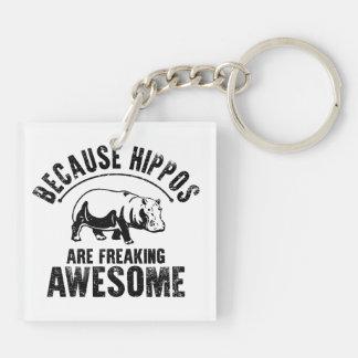Weil Flusspferde das Ausflippen fantastisch sind Schlüsselanhänger