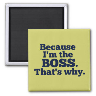 Weil ich der Chef bin, ist der warum Quadratischer Magnet
