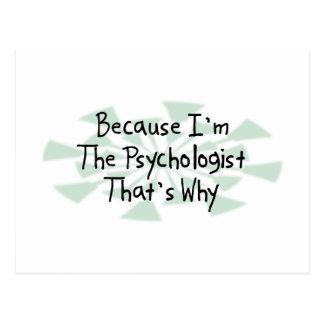 Weil ich der Psychologe bin Postkarte