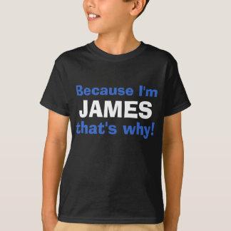 Weil ich (Ihr Name) deshalb bin! T-Shirt