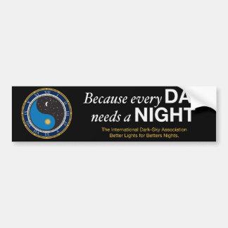 Weil jeder Tag einen NachtAutoaufkleber benötigt Autoaufkleber