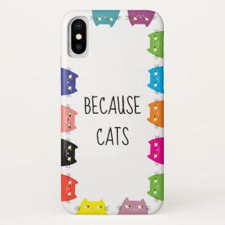 Weil Katzen-vibrierende Neonfarblustiges cooles iPhone X Hülle