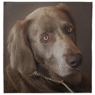 Weimaraner Jagd-Hund Stoffserviette