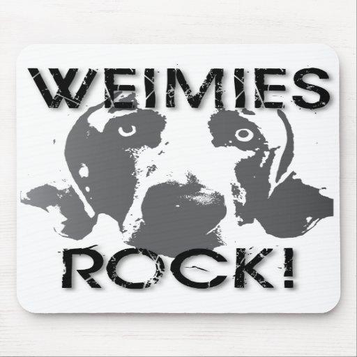 Weimaraner Nation: Weimies FELSEN! Mousepad