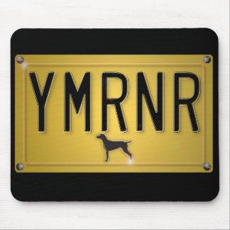Weimaraner Nation: YMRNR Kfz-Kennzeichen Mauspads