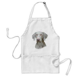 Weimaraner Porträt eines Hundes Schürze