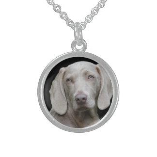 Weimaraner silbernes Grau Sterling Silberkette