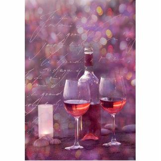Wein am Strand Freistehende Fotoskulptur