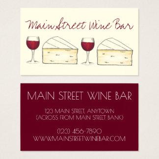Wein-Bar-Restaurant-Weinkellerei-roter Visitenkarte