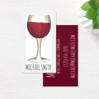 Wein-Bar-Restaurant-Weinkellereiroter Visitenkarte