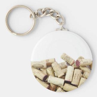 Wein bekorkt Keychain Standard Runder Schlüsselanhänger
