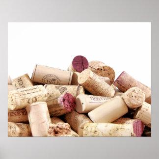 Wein bekorkt Plakat