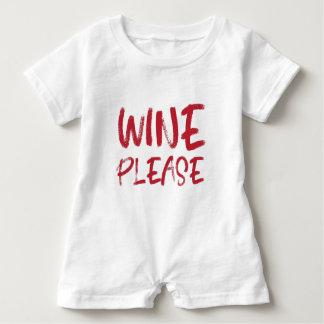 Wein bitte (im Rot) Baby Strampler
