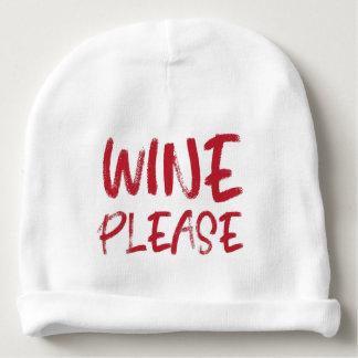 Wein bitte (im Rot) Babymütze