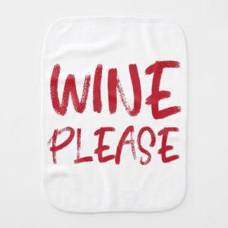 Wein bitte (im Rot) Spucktuch