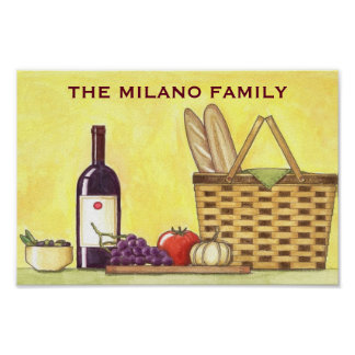 Wein-, Brot-u. Öl-Plakat Poster