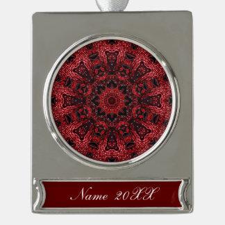 Wein-Burgunder-Böhme des Hippie marokkanischer Banner-Ornament Silber