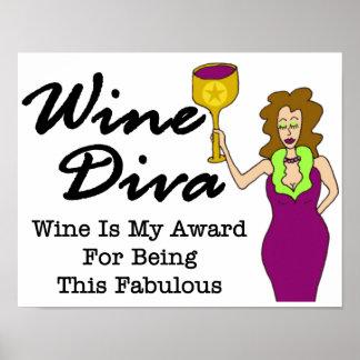 """Wein-Diva """"fabelhaft """" Poster"""