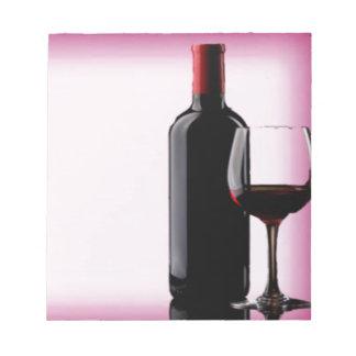 Wein-Entwurf Notizblock