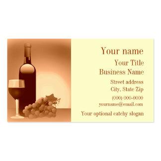 Wein-Entwurfs-Visitenkarte