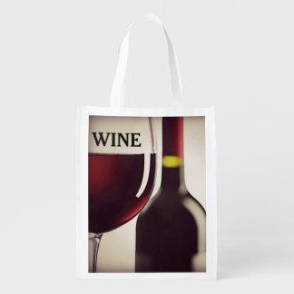 Wein-Entwurfs-wiederverwendbare Tasche Einkaufstaschen