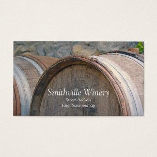 Wein-Fass-Weinkellerei-Visitenkarte Visitenkarte