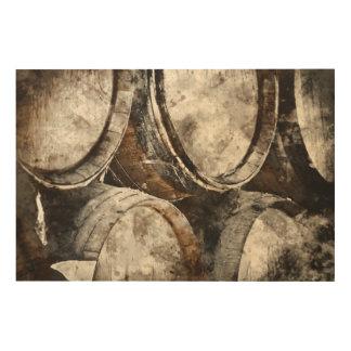 Wein-Fässer Holzleinwand