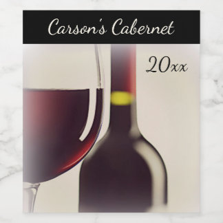 Wein-Flasche/Glaswein-Aufkleber Weinetikett