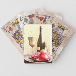 Wein-Flasche und Granatäpfel Bicycle Spielkarten