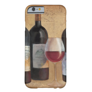 Wein-Flaschen mit Glas Barely There iPhone 6 Hülle