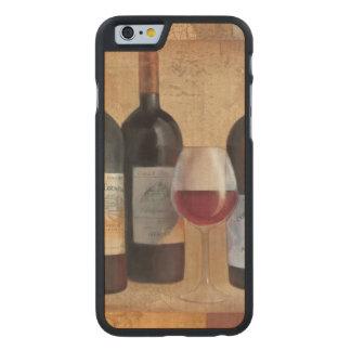 Wein-Flaschen mit Glas Carved® iPhone 6 Hülle Ahorn