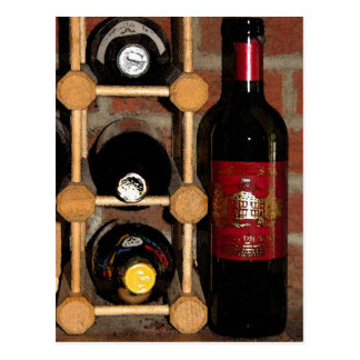Wein-Flaschen Postkarten