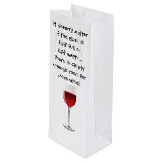 Wein-Geschenk-Tasche mit lustigem Sprichwort Geschenktüte Für Weinflaschen