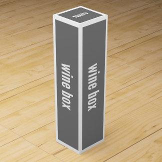 Wein-Geschenkboxen-dünne horizontale Wein-Geschenkverpackung