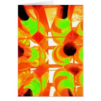 Wein-Gestell (2) Grußkarte