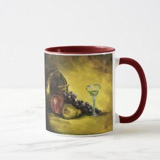 Wein-Glas mit der Frucht-Tasse Tasse