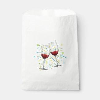Wein-Glas-rote Geschenktütchen